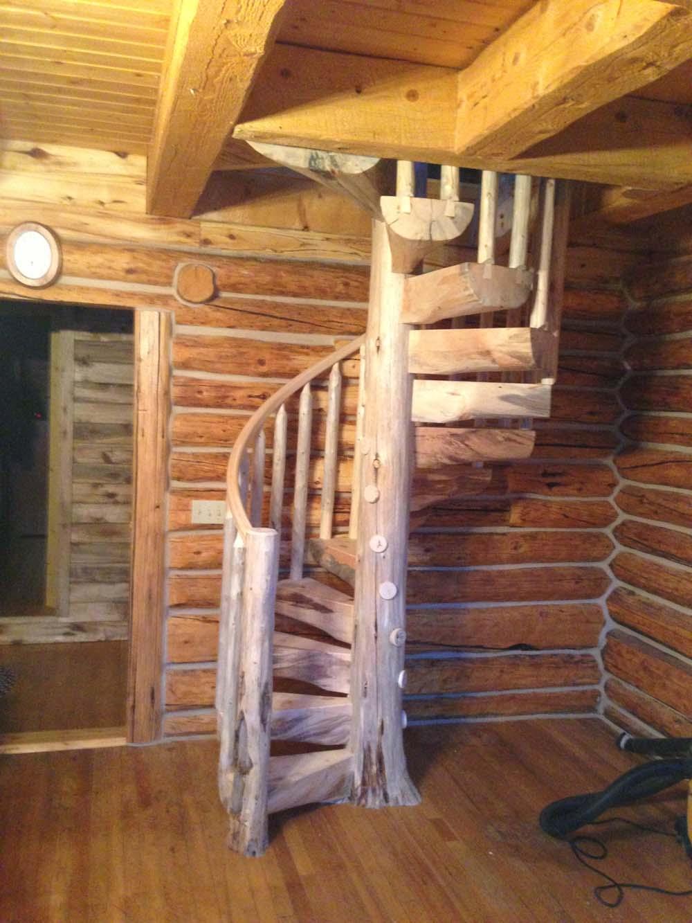 Custom Wood Stairs Gallery Log Stairs